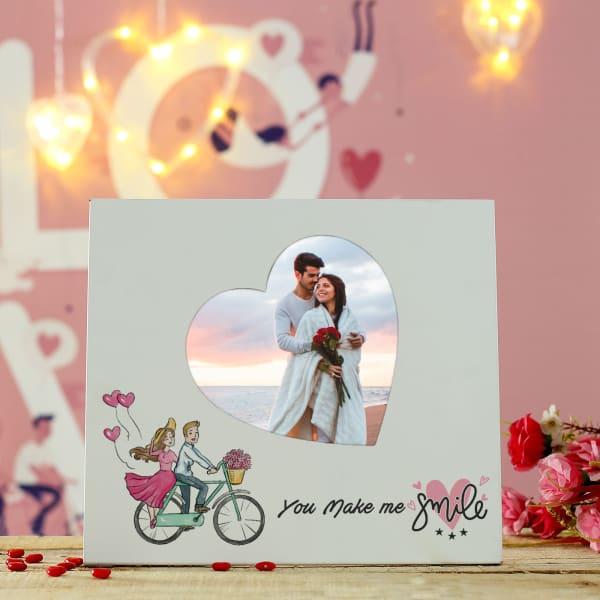 Personalized Make Me Smile Romantic Photo Frame