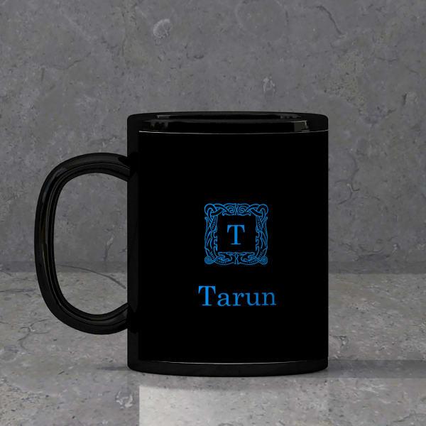 Personalized Monogram Black Mug