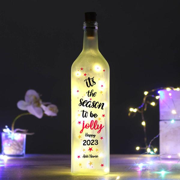 Personalized New Year Yellow Led Bottle