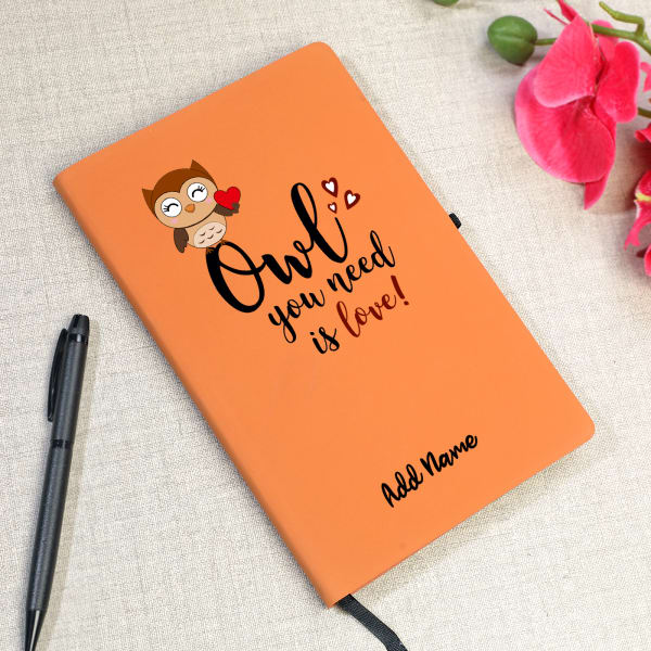 Personalized Notebook with Leather Finish Cover