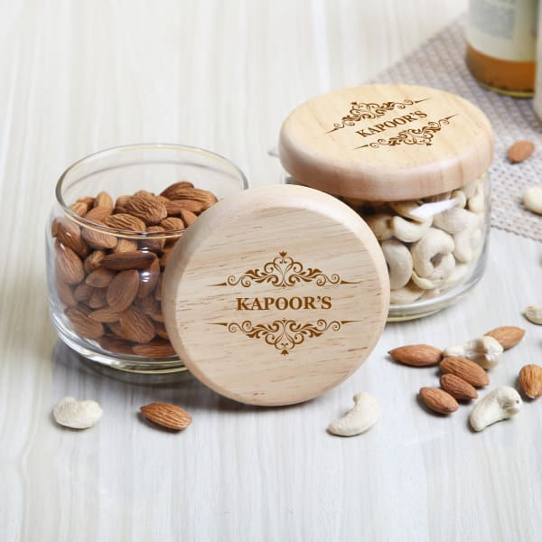 Personalized Ocean Pop Jar Set with Dryfruits