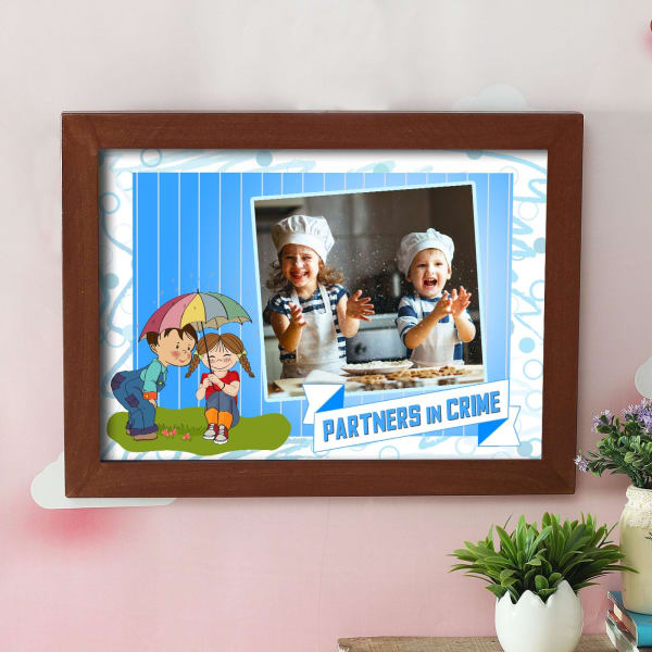 Personalized Partners In Crime A3 Kids Photo Frame