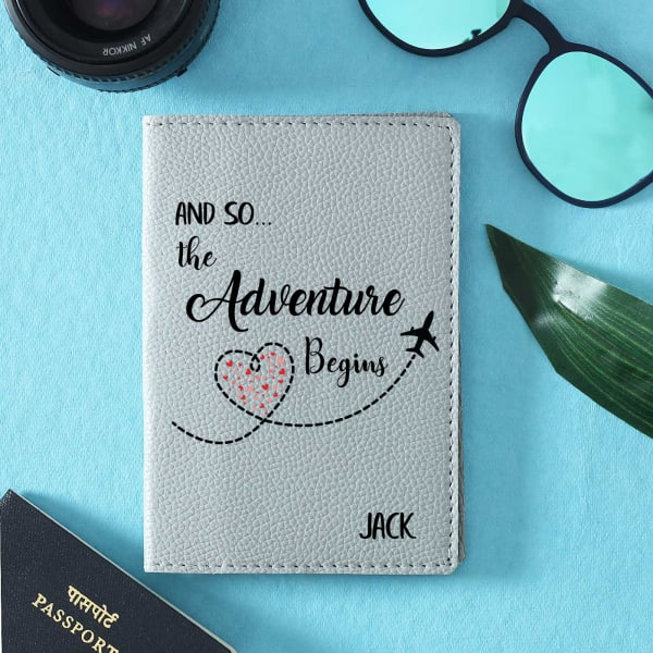 Personalized Passport Cover with Card Slots