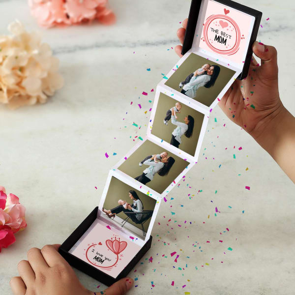 Personalized Photo Pop-up Box for Mom