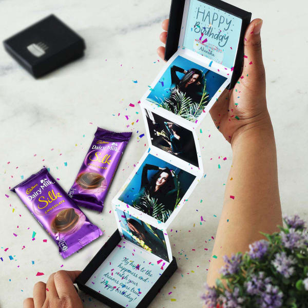 Personalized Photo Pop-up Box with Chocolates for Birthday