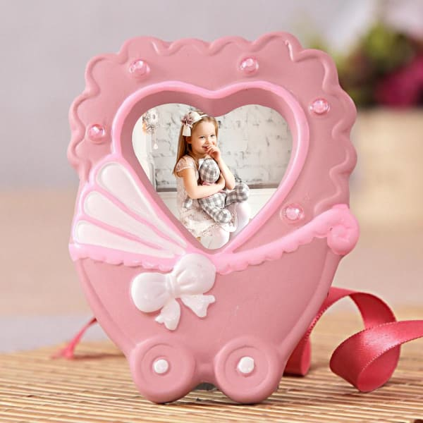Personalized Pink Heart Shaped Photo Frame