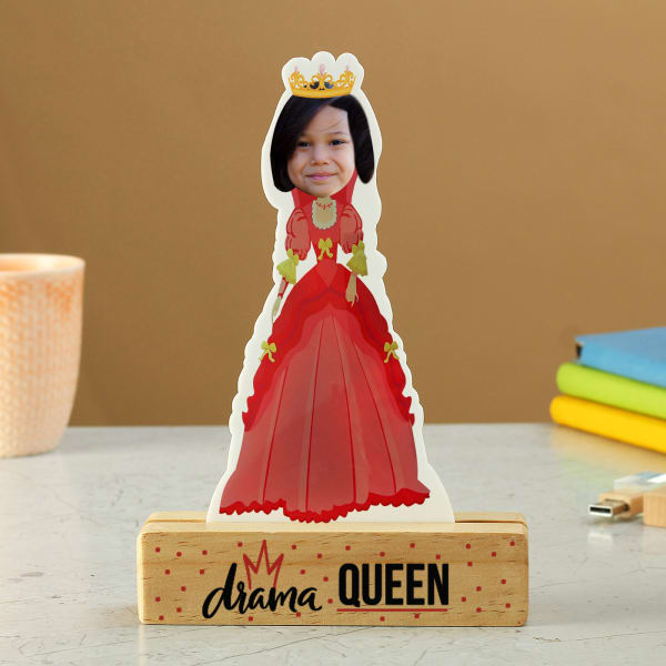 Personalized Queen Caricature for Girls