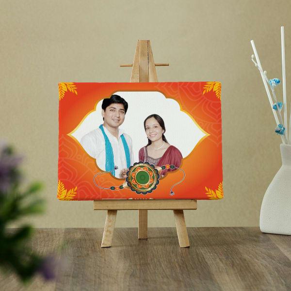 Personalized Rakhi Photo Canvas