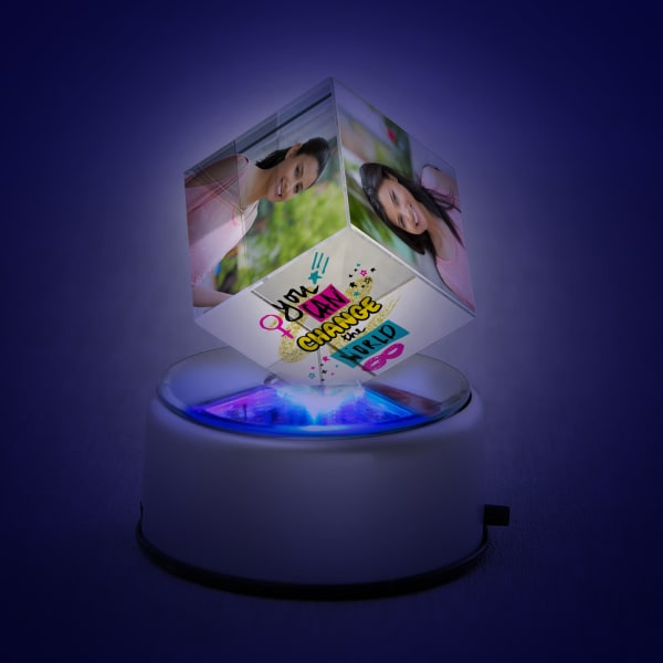 Personalized rotating crystal