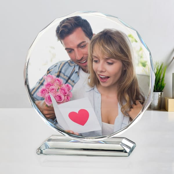 Personalized Round Crystal