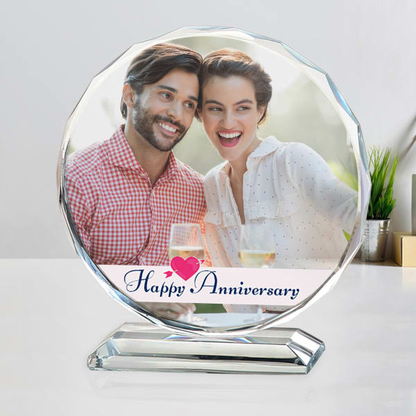 Personalized Round Crystal for Anniversary