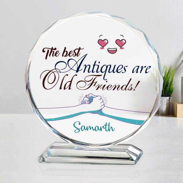 Personalized Round Crystal for Friend