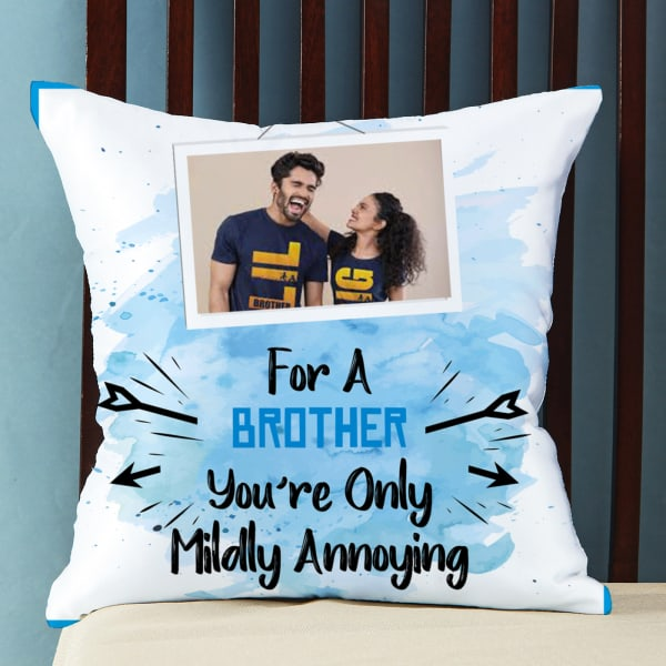 Personalized Satin Pillow for Brother