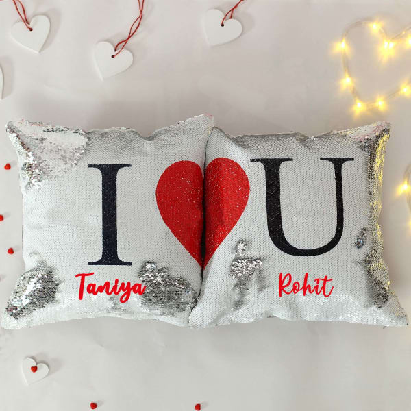 Personalized Sequined Cushions