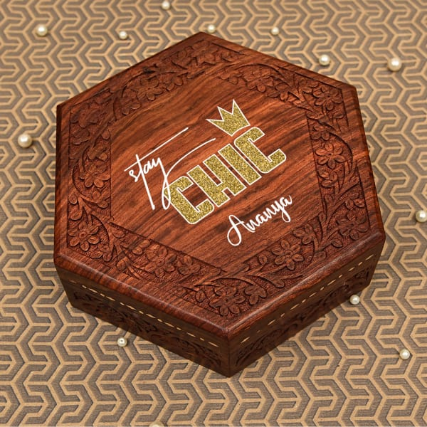 Personalized Sheesham Wooden Box
