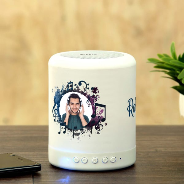 Personalized Smart Touch Mood Lamp Speaker: Gift/Send Home