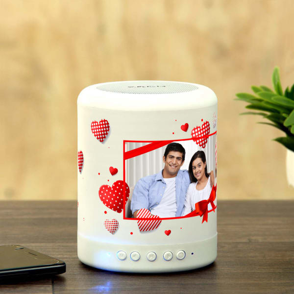 Personalized Smart Touch Mood Lamp Speaker For Valentine