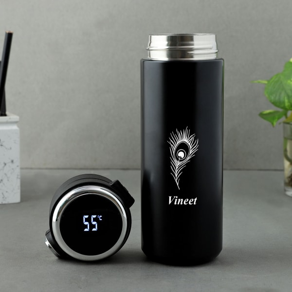 Personalized Stainless Steel LED Display Water Bottle (500 ml)