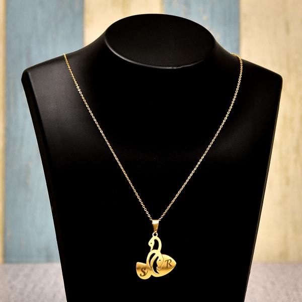 Personalized Swan Pendant