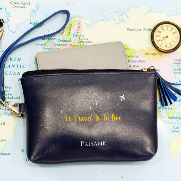 Personalized Travel Utility Pouch