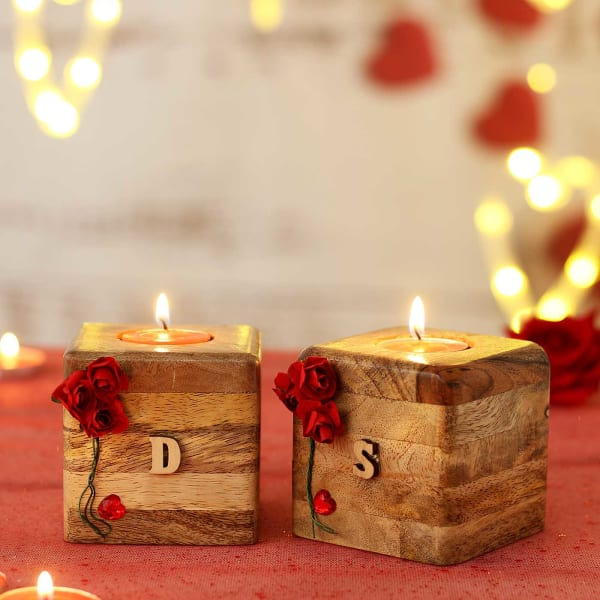 Personalized Wooden Block Candles