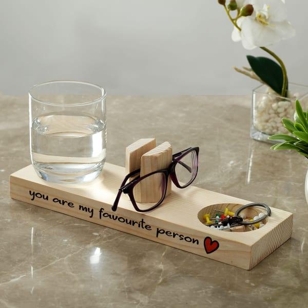 Personalized Wooden Desk Organizer
