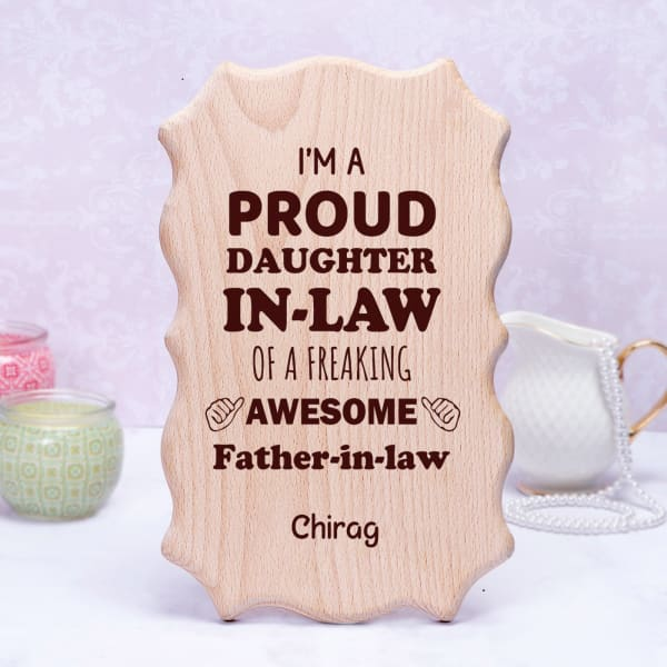 Personalized Wooden Frame for Father-in-law