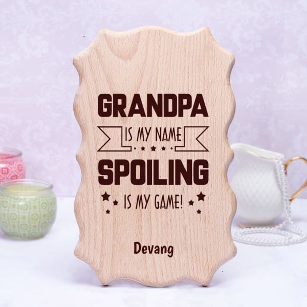 Personalized Wooden Frame for Grandfather