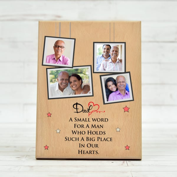Personalized Wooden Photo Frame for Father