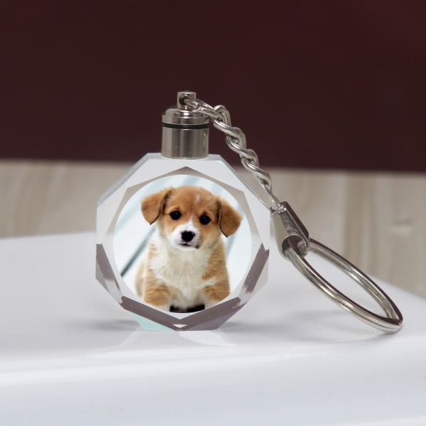 Pet Lover Personalized LED Keychain