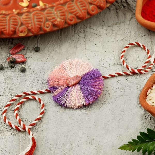 Pink And Lavender Seed Rakhi