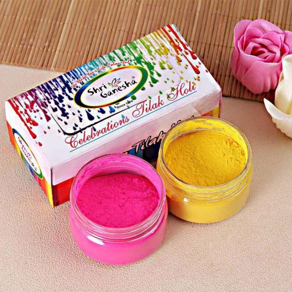 Pink and Yellow Gulaal Combo