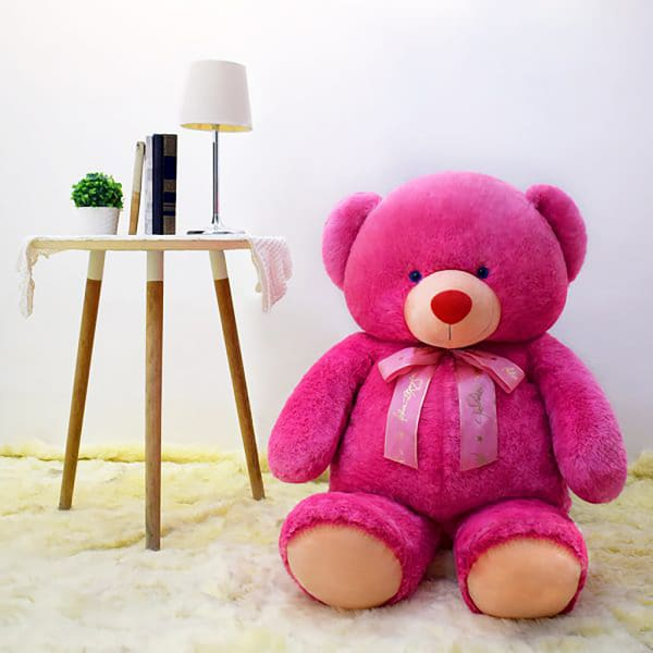 Pink Bear Stuffed Toy