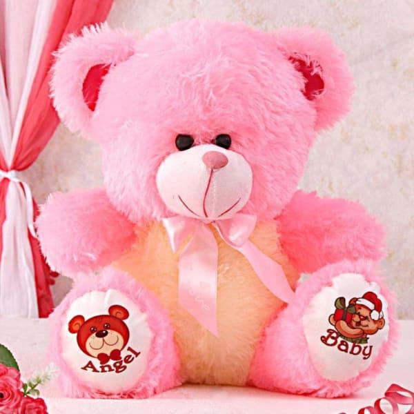 Pink Lovable Stuffed Bear