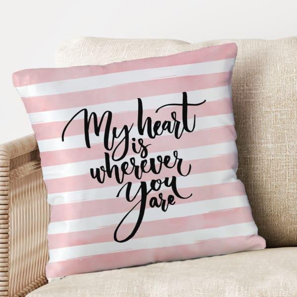 Pink & White Satin Pillow