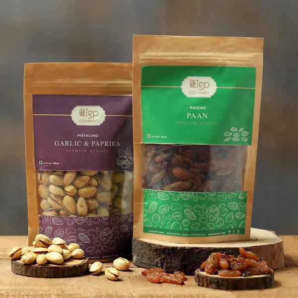 Pistachio Garlic & Paprika and Raisins Paan Combo