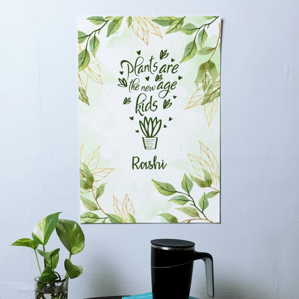 Plant Lover Personalised A3 Poster