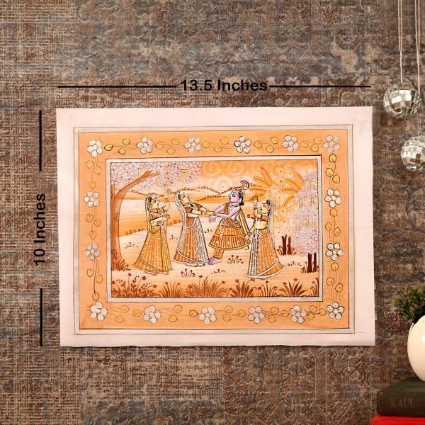 Playful Passion Ragini Silk Painting