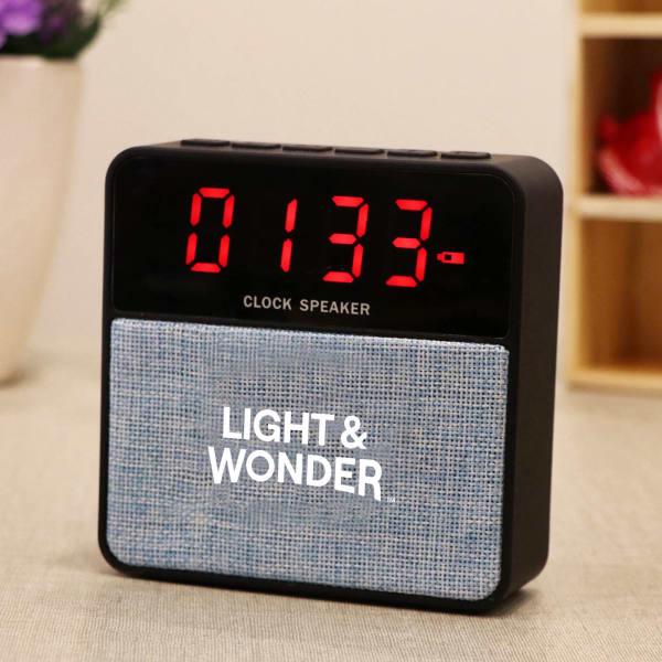 Portable Alarm Clock Cum Speaker
