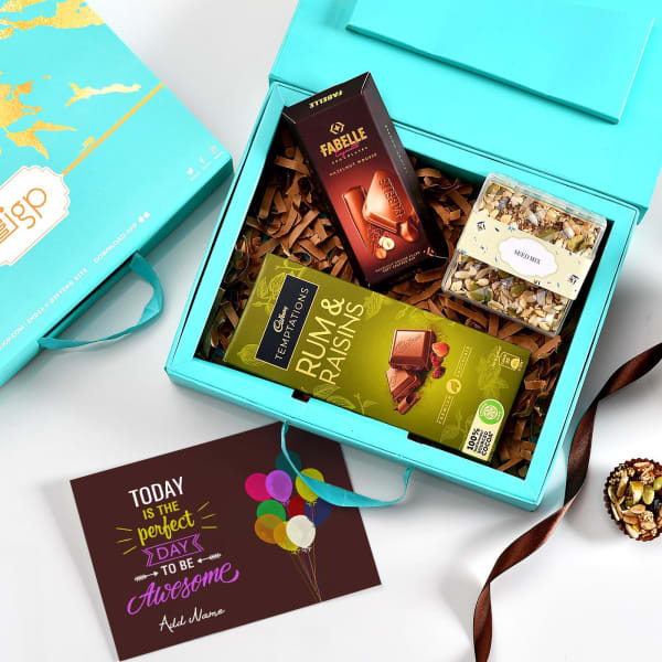 Premium Chocolates and Seed Mix Hamper with Personalized Card