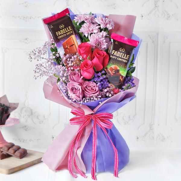 Premium Chocolates & Roses Bouquet