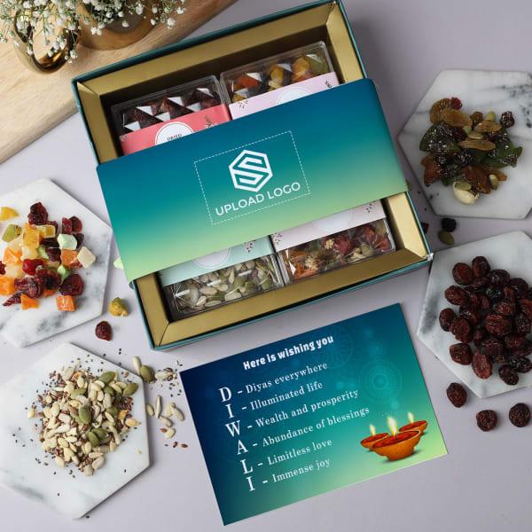 Premium Healthy Snacks Diwali Hamper - Customized With Logo