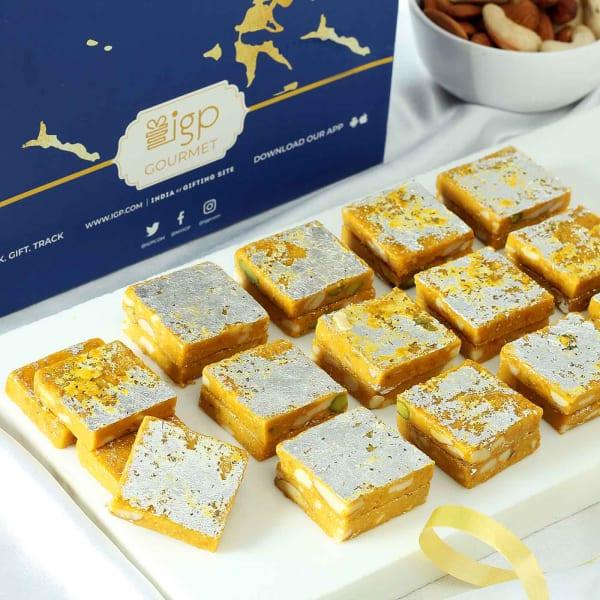 Premium Kesar Kaju Barfi (500 gm)