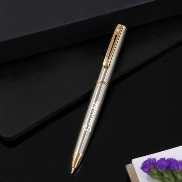Premium Personalized Pen - Silver