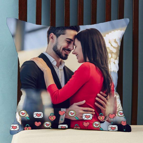 Pretty Hearts Personalized Cushion