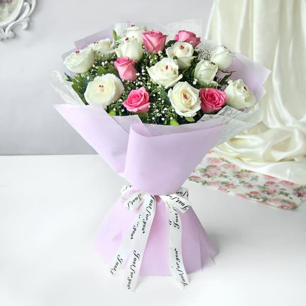 Pretty in White & Pink Bouquet
