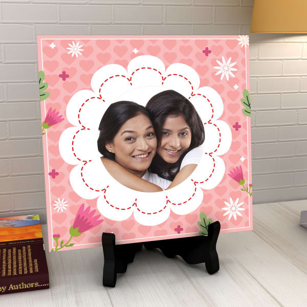Pretty Pink Personalised Tile: Gift