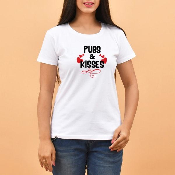 Pugs & Kisses White T-shirt