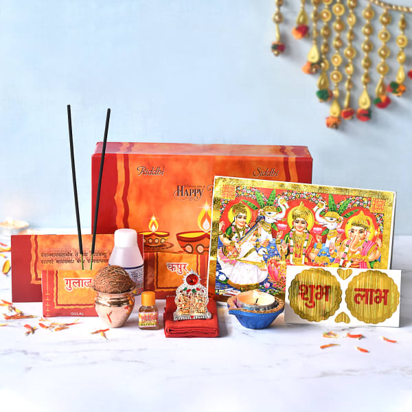 Puja Kit with Laxmi & Ganesh Idol