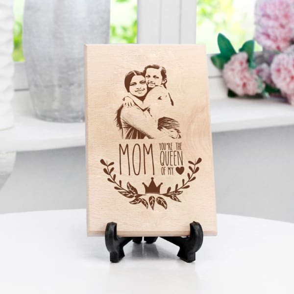 Queen of My Heart Personalized Wooden Photo Frame
